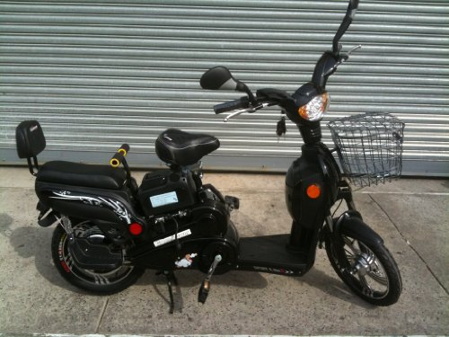 Electric Moped Bikes Scooter Style 2 Adult Seats Pedal