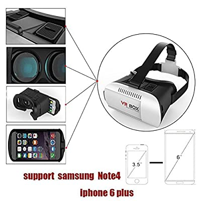ICatsup V1.0 VR Box 3D Glasses VR Virtual Reality 3D Video Glasses Helmet Headset Adjust Cardboard for 4.7 To 6 Inch Smartphones IPhone 6 Plus 6 5s 5 Samsung Galaxy IOS Android Cellphones