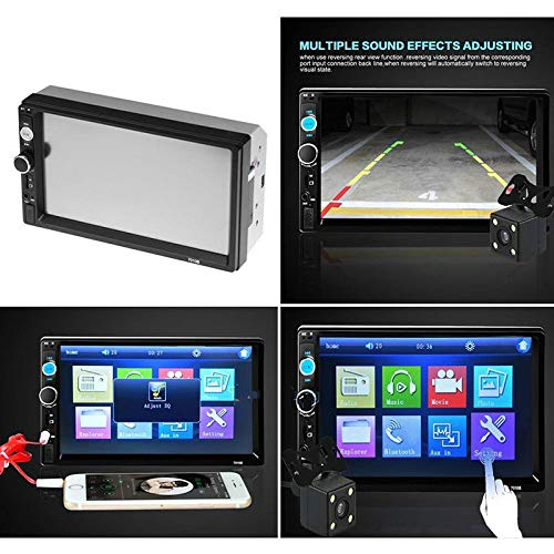 Chenway 7 Inch Car Mp5 Player Car Stereo Mp5 Mp3 Player Radio USB Aux Car Multimedia Player [Ship from USA Directly] (Divx Media Player)
