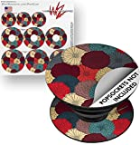 Decal Style Vinyl Skin Wrap 3 Pack for PopSockets Flowers Pattern 04 (POPSOCKET NOT INCLUDED) by WraptorSkinz