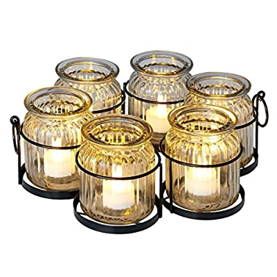 BrylaneHome Umbrella Tea Light Holder