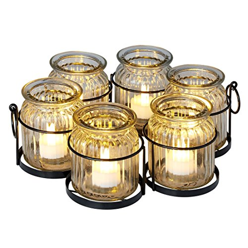 BrylaneHome Umbrella Tea Light Holder (Clear,0) by BrylaneHome