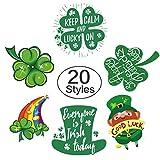 #7: St. Patrick's Day Tattoos 120pcs Temporary Shamrock Tattoos