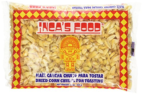 (Inca's Food Maiz Cancha Chulpe Para Tostar- Dried Corn Chulpe for Toasting - Product of Peru 15oz)