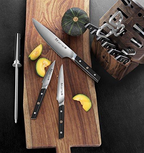 Cangshan TC Series 1021455 Swedish Sandvik 14C28N Steel Forged 17-Piece Knife Block Set, Walnut by Cangshan (Image #5)