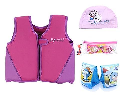 Child's Swim Medium Life Vest 3-4 Years Colour Purple include Swim Arm Band and Swimming Goggles and Swim (Life Vests 5x)