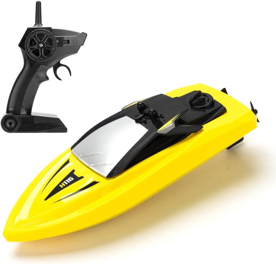 KOOWHEEL Barca RC 2.4GHz Controllo Radio Barca con Allarme di 20 Minuti di Lunga Durata nell'Acqua per Bambini (Size 1) (Size 2)
