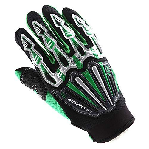 Youth Dirtpaw Gloves (Motocross Motorcycle BMX MX ATV Dirt Bike Skeleton Racing Cycling Gloves Green)