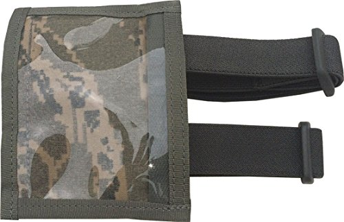 Military ID Armband Badge Holder with 2 straps Made in USA (ABU Camo) - Abu Badge