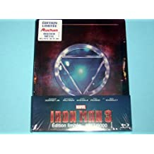 Iron Man 3 France limited to 9,000 Copies Auchan Exclusive Blu-Ray 3D + 2D Steelbook Edition with Embossed Cover & Region Free