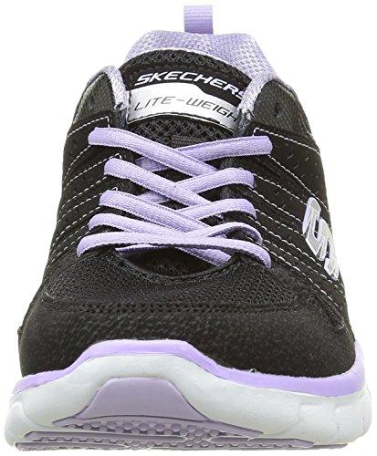 Skechers Sport Frauen Synergy Look Buch Mode Sneaker Schwarzer Lavendel