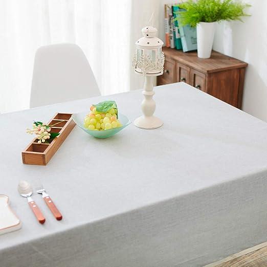 CFWL Color sólido Impermeable Lino Restaurante Mantel algodón Lino ...