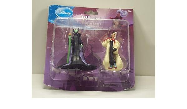Disney Villains - Juego de 2 Figuras, diseño de Cruella y malificiente: Amazon.es: Juguetes y juegos