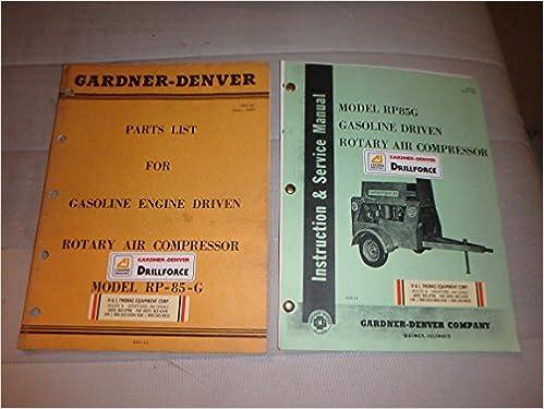 Gardner Denver Model RP85G Rotary Air Compressor Parts
