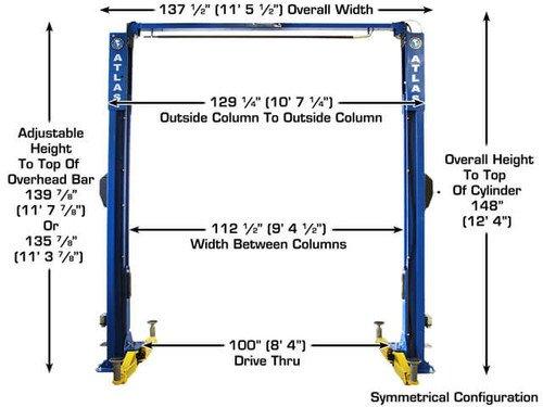 Atlas Apex 10 ALI Certified Overhead 10, 000 lbs  Capacity