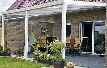 Terrassenüberdachung aus Aluminium und Glas mit Seitenwänden in ...
