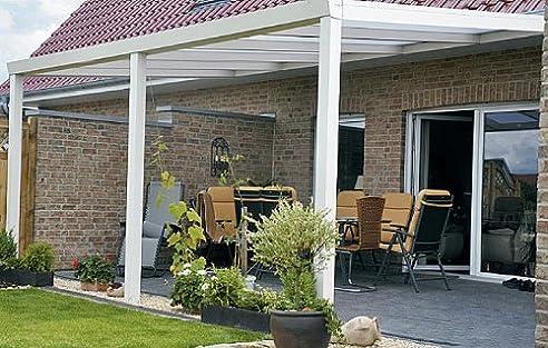 ALU Terrassenüberdachung 500x400cm wahlweise in 3 Farben ...