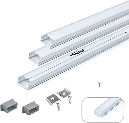 XE LED SOLUTIONS (3 x Pack) 150cm U Line Mini Aluminio LED Perfil ...