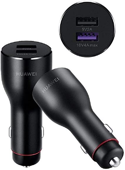 Original 40W Max Huawei Supercharge Car Charger 2 for Huawei Mate 20 40W P20 with 5A USB C Super Charger Cable
