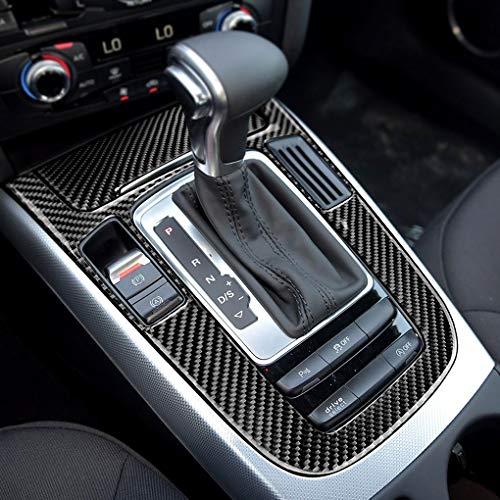 fgyhtyjuu Encendedor del Coche Cambio de Engranaje del Panel de Control de Fibra de Carbono Cubre el Tipo de Pegatina de replacemnt para A4 A5 Q5 Q3 B8 A6: ...