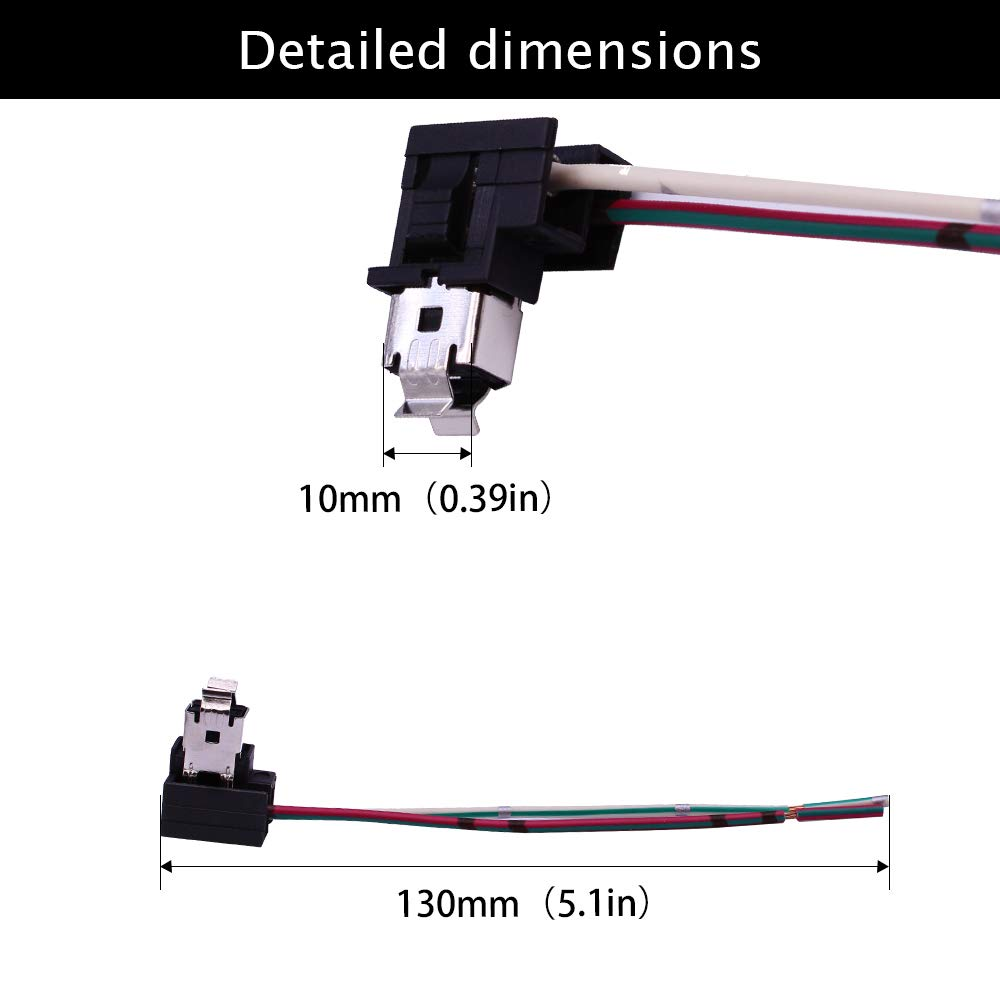 Huiqiaods H1 H3 Headlight Fog Light Bulb Extension Socket Wire Harness Connector Holder Pack