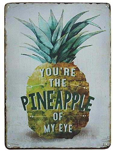 TISOSO Tin Signs You'Re The Pineapple of My Eye Funny Retro Vintage Tin Bar Sign Country Home Decor Be a Pineapple Retro Bar Sign Country Home 8X12Inch ()