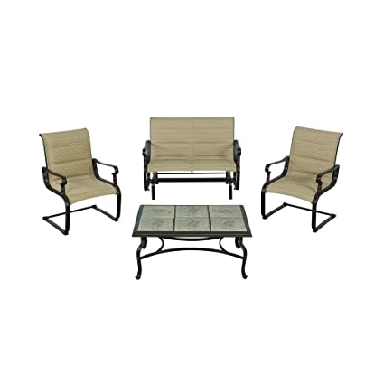 Belleville Padded Sling 4 Piece Patio Seating Set