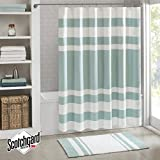 Madison Park - Spa Waffle Shower Curtain With 3M Treatment - Water Repellent & Stain Resistant - Aqua - 72(W)' X 72(L)'- Machine Washable