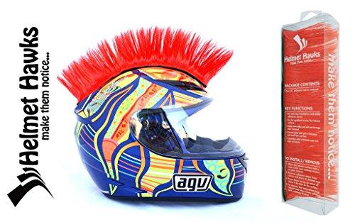 Helmet Hawks Motorcycle Helmet Mohawk w/ Sticky Velcro Adhesive - Candy (Long Mohawk Motorcycle Helmet)