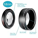 Neewer® 58MM 0.43X Professional HD Wide Angle Lens with Macro Portion for Canon EOS Rebel (T6s T6i T5i T5 T4i T3i T3 SL1 1100D 700D 650D 600D 550D 300D 100D 60D 7D 5D 70D) and More