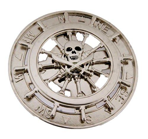 Skull Silver Metal Belt Buckle Texas Usa Style Rodeo Western Rock Rebel Fashion