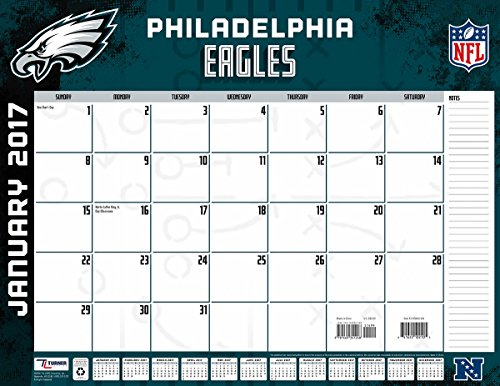 "Turner Licensing Sport 2017 Philadelphia Eagles Desk Pad Calendar, 22""X17"" (17998061548)"