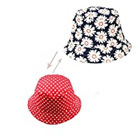 Abbyling68 Baby Toddler Kids Sun Hat With Chin Strap,Adjustable Head Size,50+ UPF Cotton