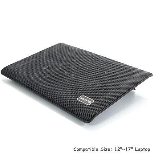 2 LED Fan USB Notebook Laptop Stand Rack Cooling Cooler Base Pad - 6