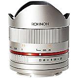 Rokinon RK8MS-FX 8mm F2.8 Series 2 Fisheye Lens for Fujifilm X-Mount Cameras, Silver