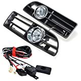 vw gti mk4 fog lights - Heart Horse Front Fog Light Lamp Day Running Lights Lower for VW Golf MK4 GTI TDI 6000K 1999-2004