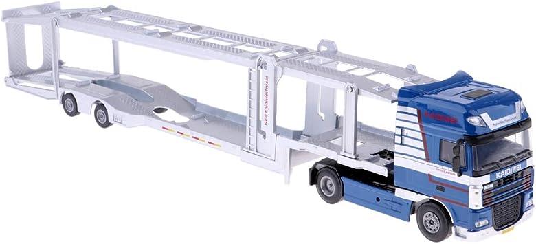 FLAMEER 150 Camion de Remorque de Transporteur Métal, Modèles de Véhicule Voiture Jouets, Jeux de Construction