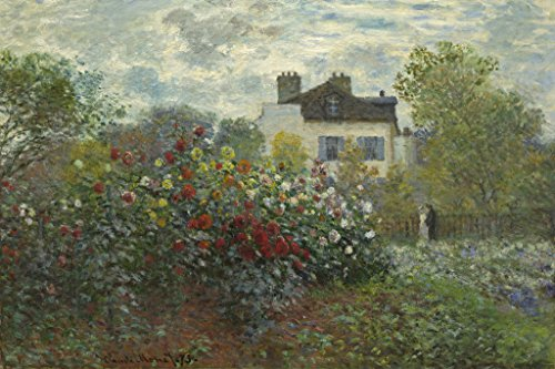 Claude Monet Artists Garden at Argenteuil Cool Wall Decor Art Print Poster 12x18