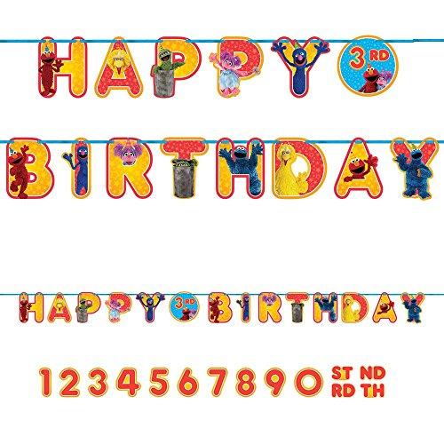 Sesame Street Letter Banner (Elmo Happy Birthday Banner)