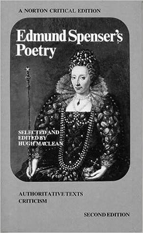 Book Poetry (A Norton critical edition) by E Spencer (1982-09-29)