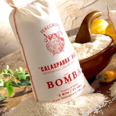 La Tienda Peregrino Brand Bomba Paella Rice (11 lbs/5 kilos - about 22.5 cups)