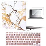 "Vasileios 3in1 Rubberized Frosted Soft-touch Hard Shell Case Cover for 13-inch Macbook Air 13.3"" (Model: A1369 and A1466) (Marble 03)"