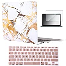 "Vasileios 3in1 Matte Frosted Satins-touch Hard Shell Case Cover for 13-inch Macbook Pro 13.3"" (Model: A1278) (Marble 03)"