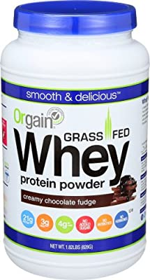 Orgain Grass Fed Whey Protein Powder, 2 Flavors, 11 Ounce, 12 Count