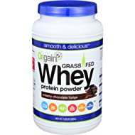 Orgain Grass Fed Whey Protein Powder, Creamy Chocolate Fudge, Vegan, Non-GMO, Gluten Free, 1.82 Pound, 1 Count