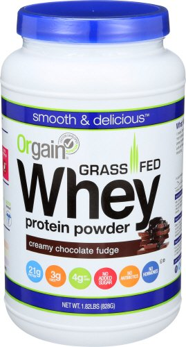 Orgain Grass Fed Whey Protein Powder, Creamy Chocolate Fudge, 1.82 Pound, 1 Count, Non-GMO, Gluten Free