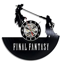 Final Fantasy Vinyl Wall Clock Art Gift Room Modern Home Record Vintage Decoration