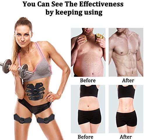 UMATE Abs Stimulator Muscle Toner, Portable Muscle Trainer,Abdominal Trainer,Abdominal Muscle Toner Fitness Training Gear with LCD Display for Men/Women 7