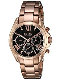 SO & CO New York  Women's 5064.3 Madison Analog Display Quartz Rose Gold Watch