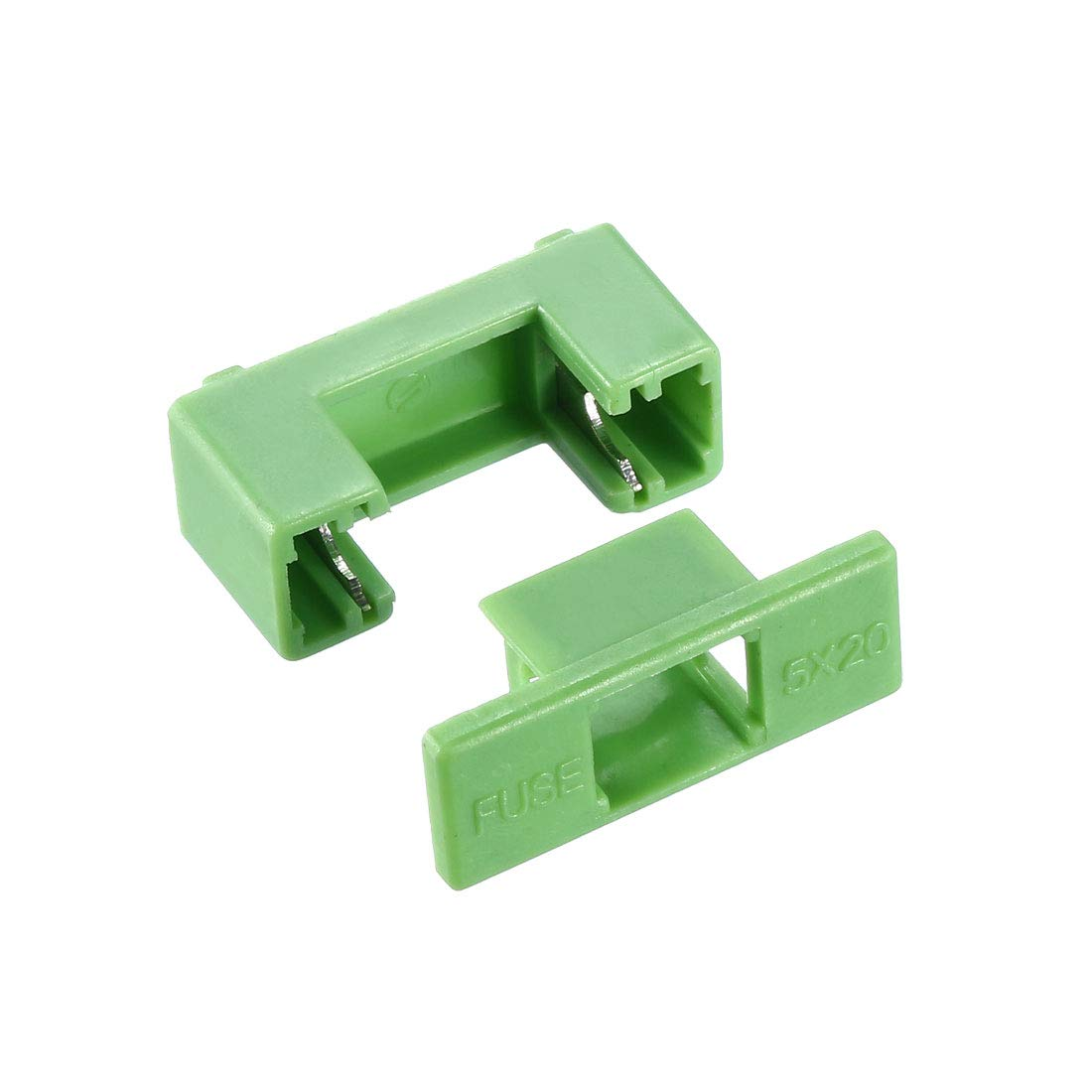 uxcell 250V 6.3A Dual Terminals 5x20mm Fuse PCB Panel Mount Holder Case Green 10Pcs